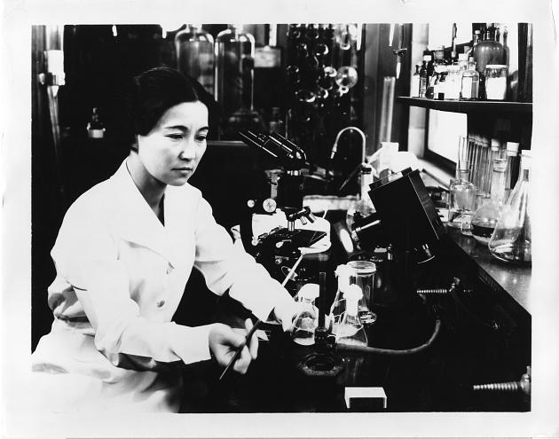 Photo of Dr. Ruby Hirose from the Smithsonian Institution Archives.